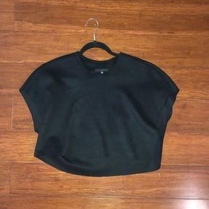 Black wool crop top